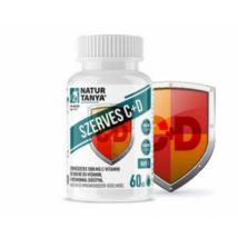 Szerves C+D vitamin tabletta  E-vitaminnal 60 db Naturtanya
