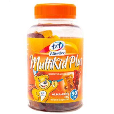 1×1 Vitamin MultiKid Plus alma- és eper ízű gumivitamin 90db