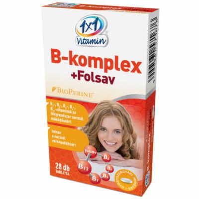 1×1 Vitamin B-komplex + folsav BioPerine®-nel filmtabletta 28db