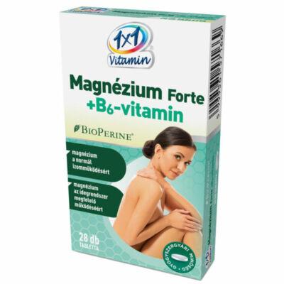 1×1 Vitamin Magnézium Forte + B6-vitamin BioPerine®-nel filmtabletta 28db
