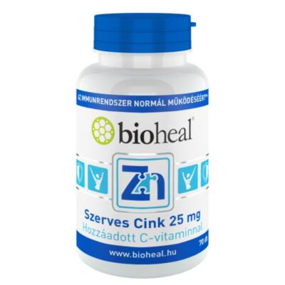 BioHeal Szerves Cink 25 mg 70 db