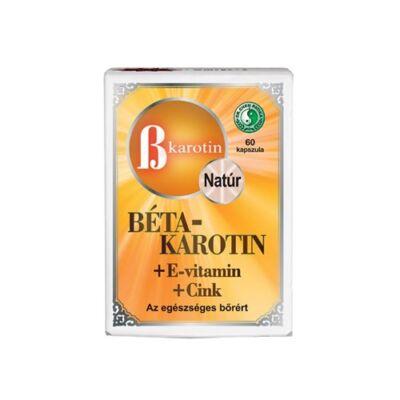 Béta-Karotin + E-vitamin + Cink Kapszula 60db Dr. Chen