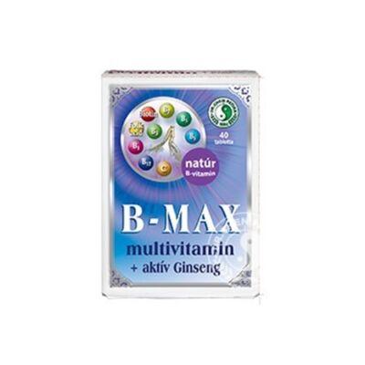 B-MAX multivitamin tabletta + aktív Ginseng 40db (1000 mg) Dr. Chen