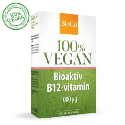 BIOCO 100% VEGAN BIOAKTÍV B12-VITAMIN 1000μg 90db