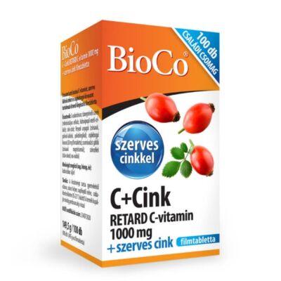BIOCO C+CINK Retard C-vitamin 1000mg + Szerves CINK Filmtabletta 100db