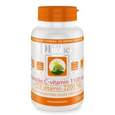 Acerolás C-vitamin 1100 mg + D3-vitamin 2200 NE Tabletta (105db) Bioheal
