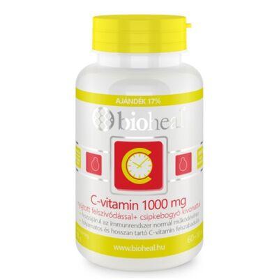 Csipkebogyós C-vitamin 1000 mg Tabletta nyújtott felszívódással (70db) Bioheal