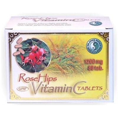 C-vitamin tabletta csipkebogyó kivonattal (1200 mg) 80 db (Dr. Chen)
