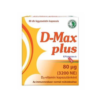 D-Max Plus D3-vitamin Lágyzselatin Kapszula 80db Dr. Chen