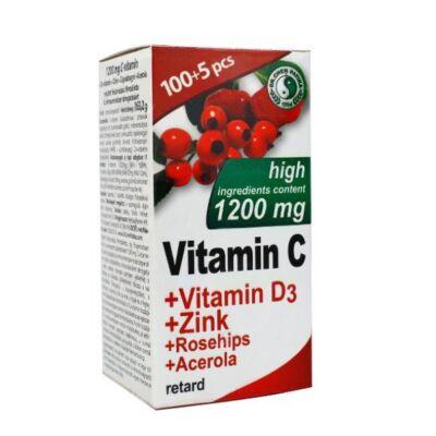Dr. Chen C-vitamin 1200mg + D3-vitamin + Cink tabletta 105db