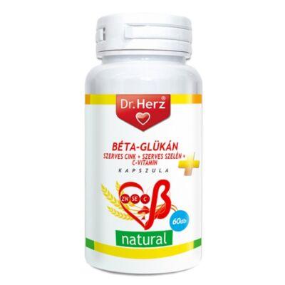 Dr. Herz Béta-Glükán+Szerves Zn+Se+C-vitamin kapszula 60db