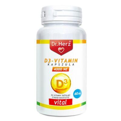 DR. Herz D3-vitamin 4000NE kapszula 60db