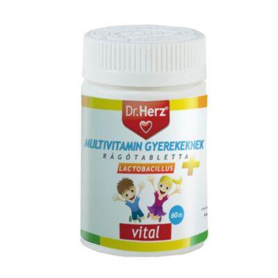 Dr. Herz Gyerek multivitamin + lactobacillus rágótabletta 60 db