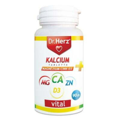 Dr. Herz Kalcium+Magnézium+Cink+D3-vitamin tabletta 90db