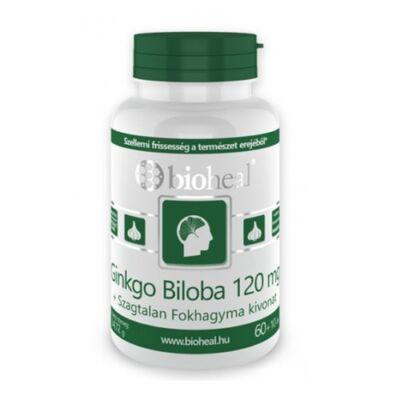 Ginkgo Biloba 120 mg Kapszula + Fokhagyma kivonat (70db) Bioheal