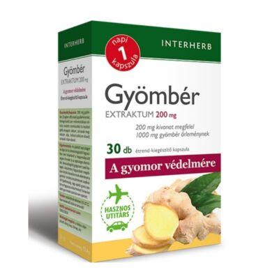 NAPI1 Gyömbér Extraktum 200 mg kapszula 30db INTERHERB