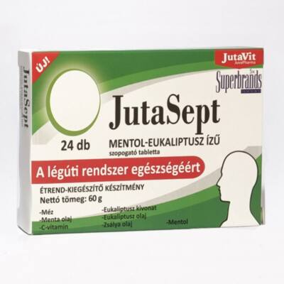 JutaVit JutaSept mentol-eukaliptusz ízű, 24db