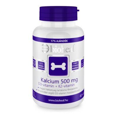 Kalcium 500 mg + D3-vitamin + K2-vitamin (70db) Bioheal