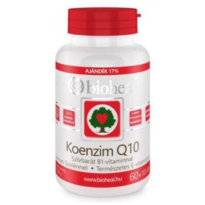 Koenzim Q10 60 mg Szelénnel E-vitaminnal és B1-vitaminnal (70db) Bioheal