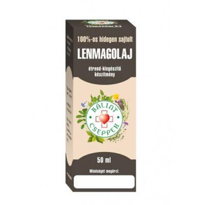 Lenmagolaj 100%-os hidegen sajtolt 50ml Bálint cseppek