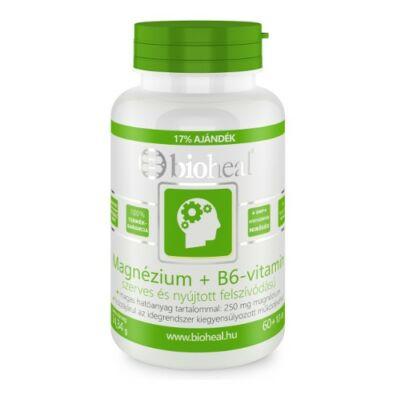 Magnézium + B6-vitamin szerves nyújtott felszívódású tabletta (70db) Bioheal