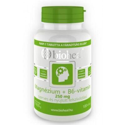 Magnézium + B6-vitamin szerves nyújtott felszívódású tabletta (105db) Bioheal