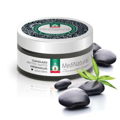 MediNatural Teafaolajos mattító, tisztító krémpakolás zsíros bőrre 100ml
