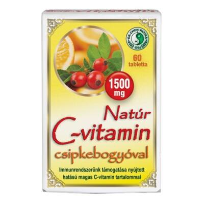 Natúr C-vitamin 1500mg Tabletta Csipkebogyóval 60db Dr. Chen