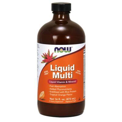 Now Liquid Multi Trópusi Narancs Ízű Folyékony Multivitamin 473ml
