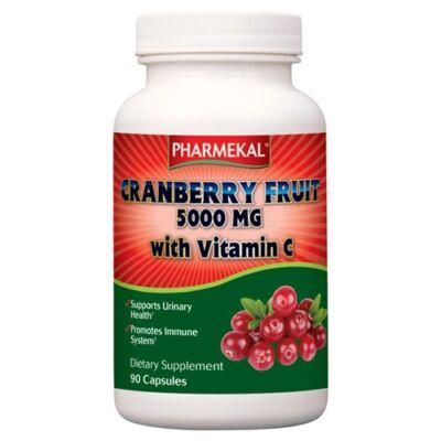 VÖRÖS ÁFONYA (TŐZEGÁFONYA) 5000 MG + C-vitamin 90db Pharmekal