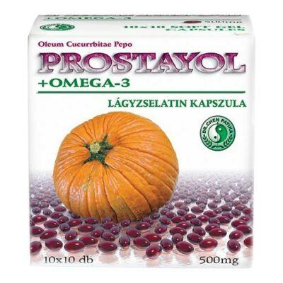 Prostayol tökmagolaj+Omega-3 kapszula 100db Dr. Chen