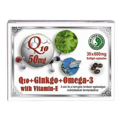 Q10 + Ginkgo + Omega-3 kapszula 30db Dr.Chen