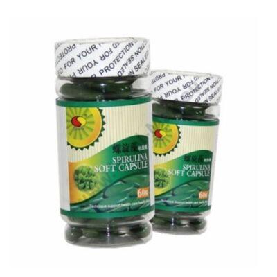 Spirulina (zöld)  alga lágyzselatin kapszula 1000mg x 60db