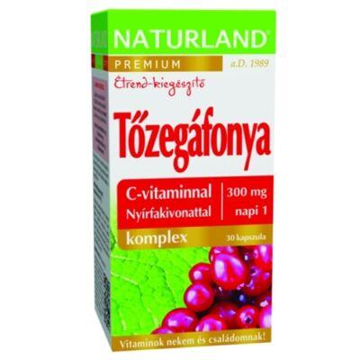 Tőzegáfonya Komplex Kapszula C-vitaminnal és Nyírfakivonattal 30db Naturland