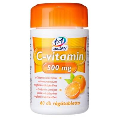 1x1 Vitaday C-vitamin 500 mg rágótabletta 60db