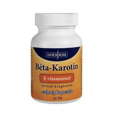 Béta-Karotin E-vitaminnal 30db Interherb