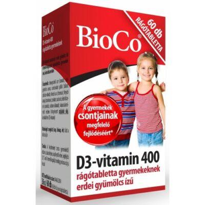 BioCo D3-vitamin rágótabletta gyermekeknek 60db