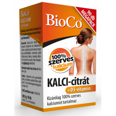 BioCo KALCI-citrát+D3-vitamin MEGAPACK 90db