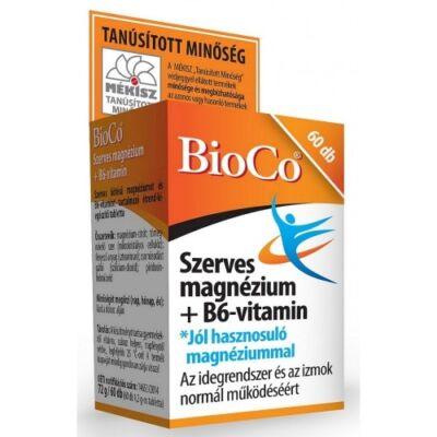 BioCo Szerves Magnézium + B6-vitamin tabletta 60db