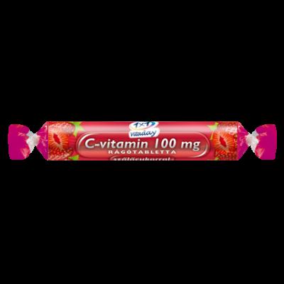 C-vitamin 100 mg rágótabletta szőlőcukorral (eper ízű) 17db