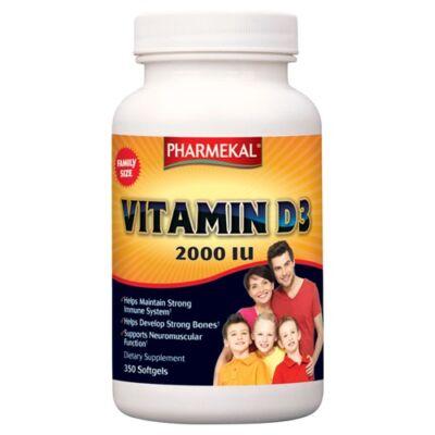 D3-VITAMIN 2000IU 350db Pharmekal (CSALÁDI KISZERELÉS)