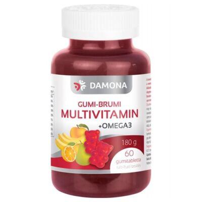 Damona Gumi-Brumi Multivitamin + Omega-3 tabletta gyermekeknek 60 db
