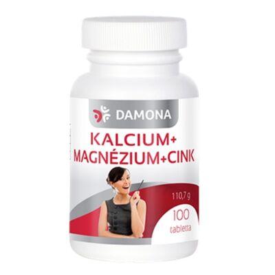 DAMONA Kalcium + Magnézium + Cink 100 db