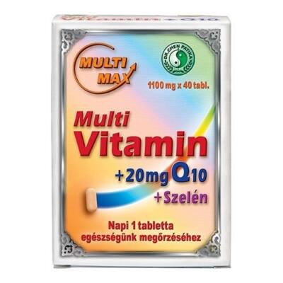 Dr.Chen Multi-Max vitamin + 20mg Q10 + Szelén tabletta 40db