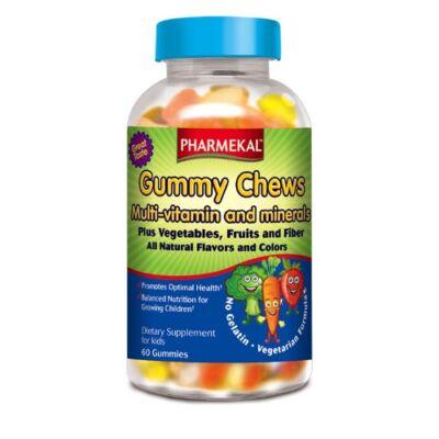 Gummy Chew Gyerek multivitamin+ásványi anyagok 60db Pharmekal