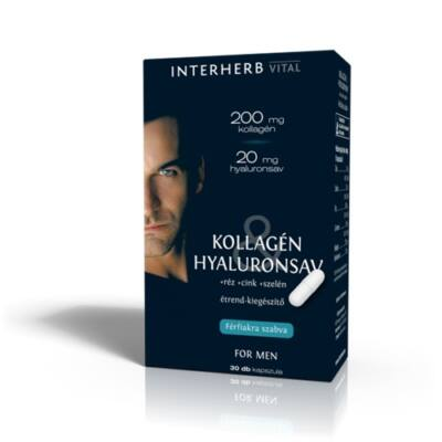 INTERHERB VITAL kollagén & hyaluronsav FOR MAN 30db