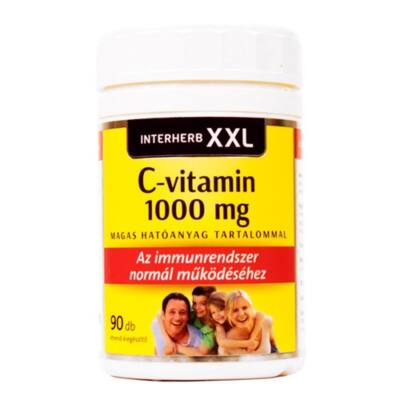 INTERHERB XXL C-vitamin 1000mg 90db