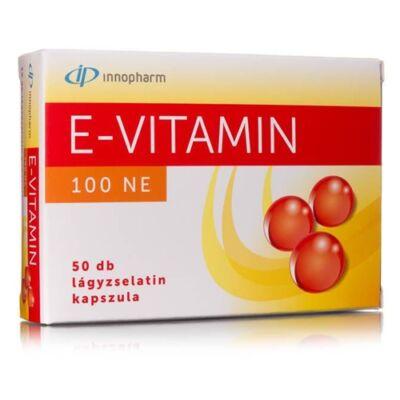 InnoPharm E-vitamin 100 NE lágyzselatin kapszula 50db