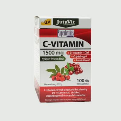 JutaVit C-Vitamin 1500mg komplex tabletta 100db