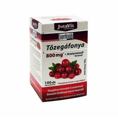 JutaVit Tőzegáfonya 800 mg + aranyvessző kivonat  100 db